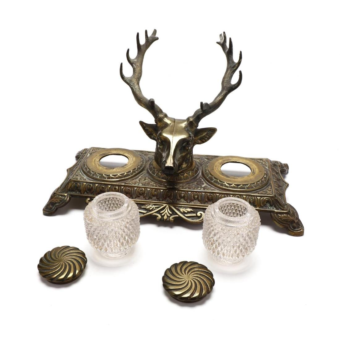 Bradley and Hubbard, Stag Form Inkwell - 6