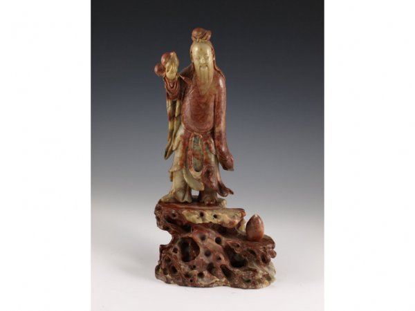 6: Chinese Onyx Shou-Xing Statuette,