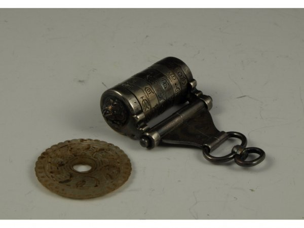 11: Antique Chinese Buddhist Pendant & Prayer Wheel,