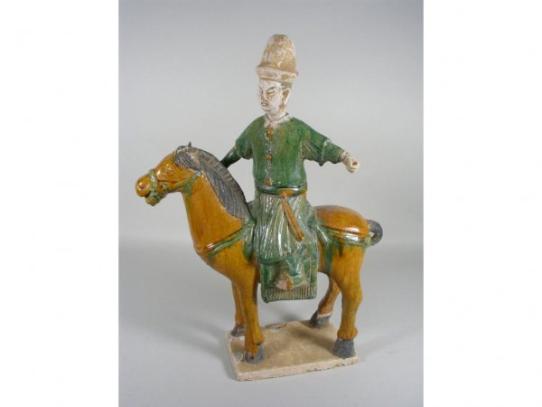 21: Chinese Ming Dynasty Equestrian Figure,