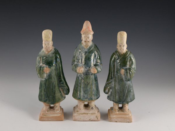 25: Three Chinese Ming Dynasty Ceramic Figurines,