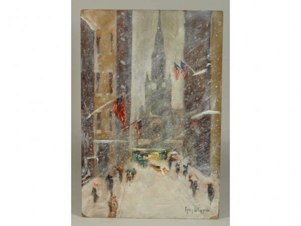 321: Guy Wiggins (NY/CT, 1883-1962), New York Winter,