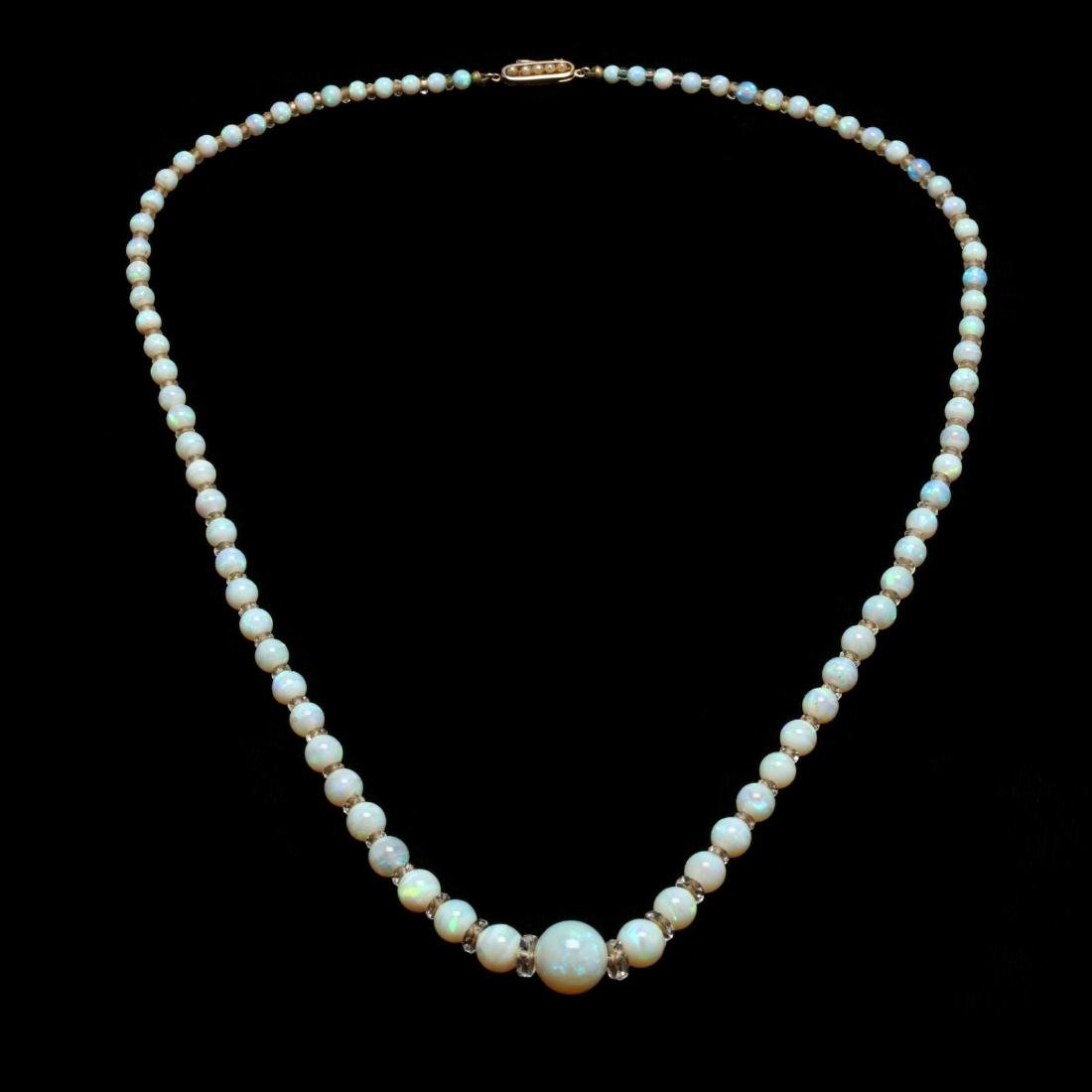 a13560a83 Vintage Opal and Rock Crystal Bead Necklace - Mar 02, 2019 | Leland Little  Auctions in NC