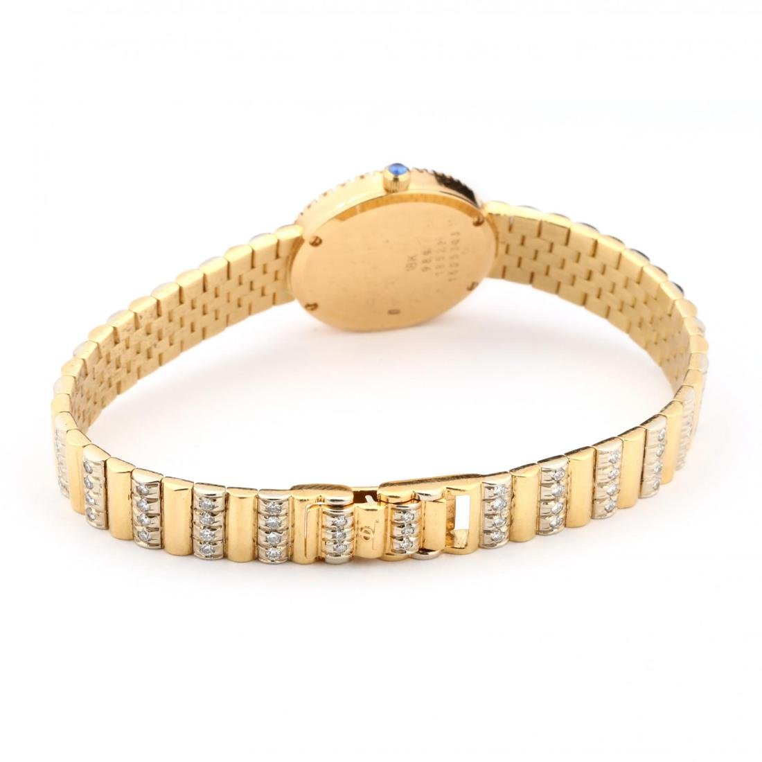 Lady's 18KT Gold and Diamond Watch, Baume & Mercier - 4