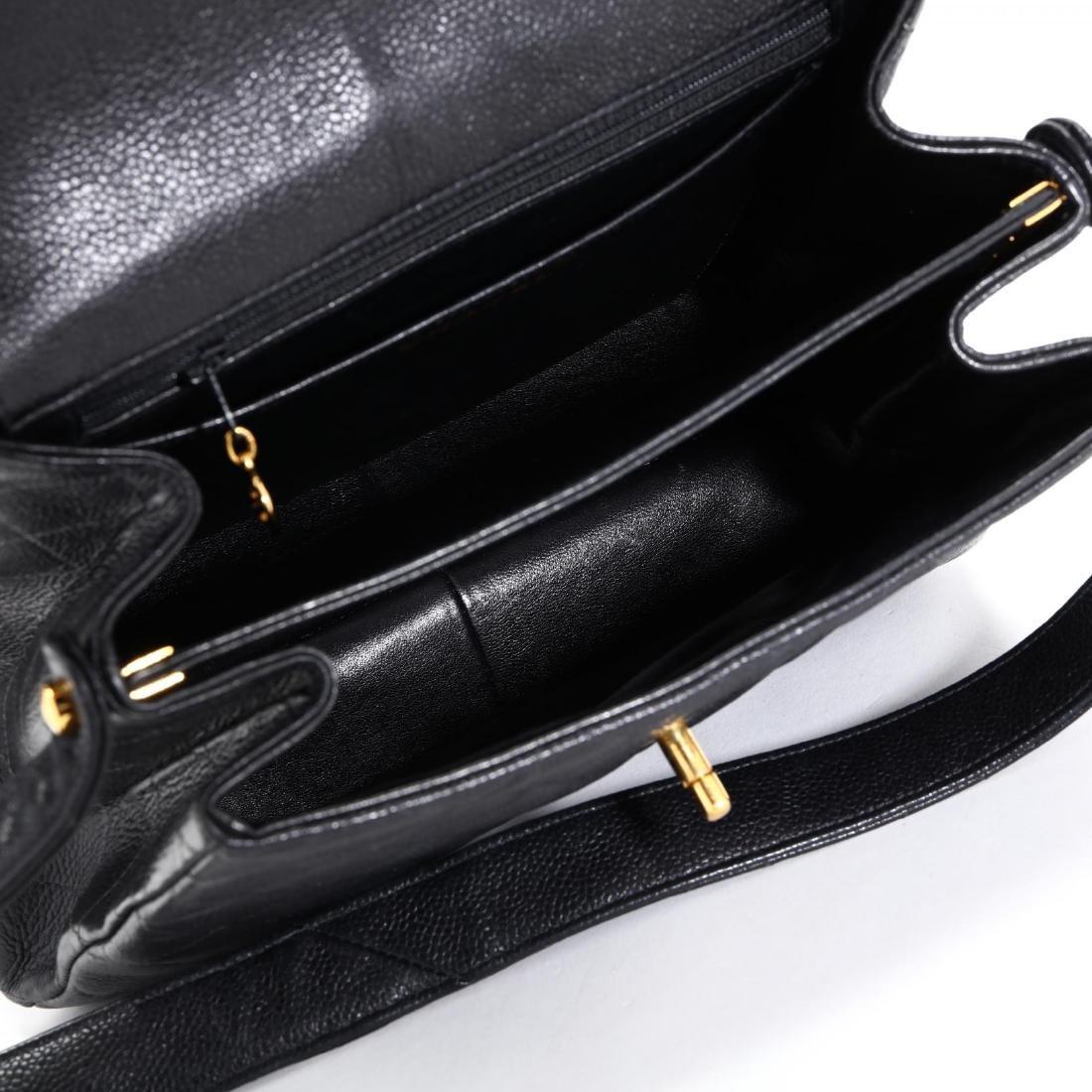 Caviar Leather Trapeze Flap Handbag, Chanel - 10