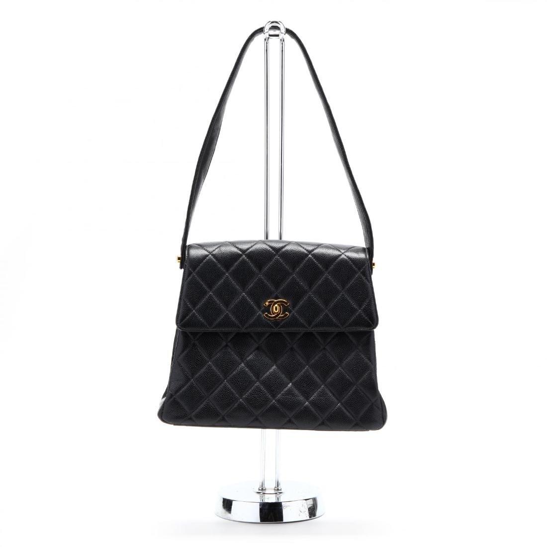 Caviar Leather Trapeze Flap Handbag, Chanel - 2