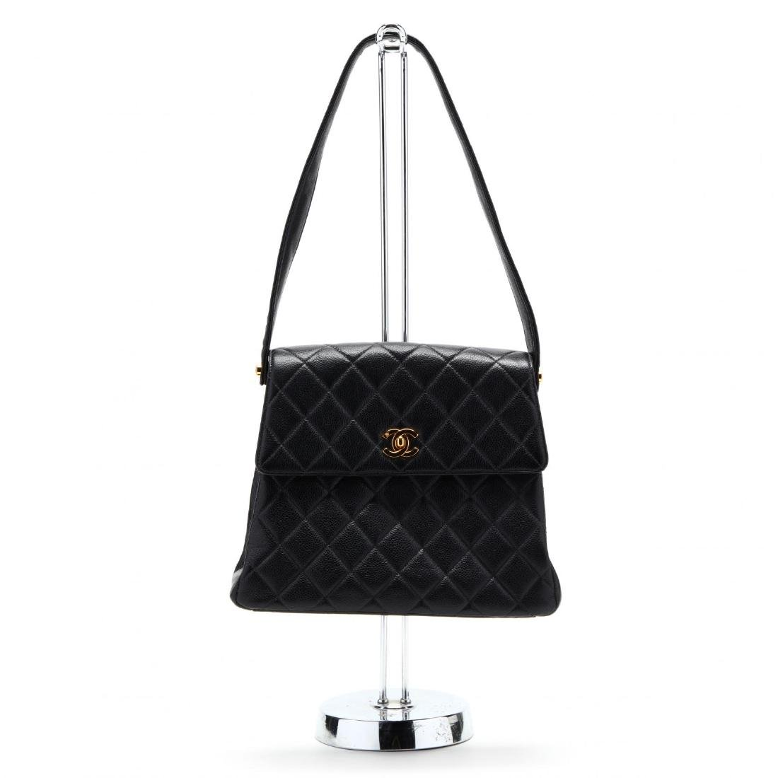 Caviar Leather Trapeze Flap Handbag, Chanel - 5