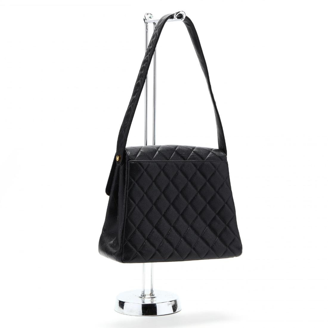 Caviar Leather Trapeze Flap Handbag, Chanel - 6