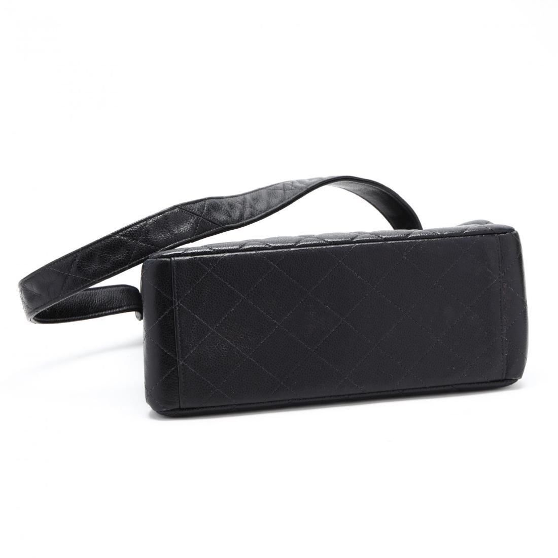Caviar Leather Trapeze Flap Handbag, Chanel - 7