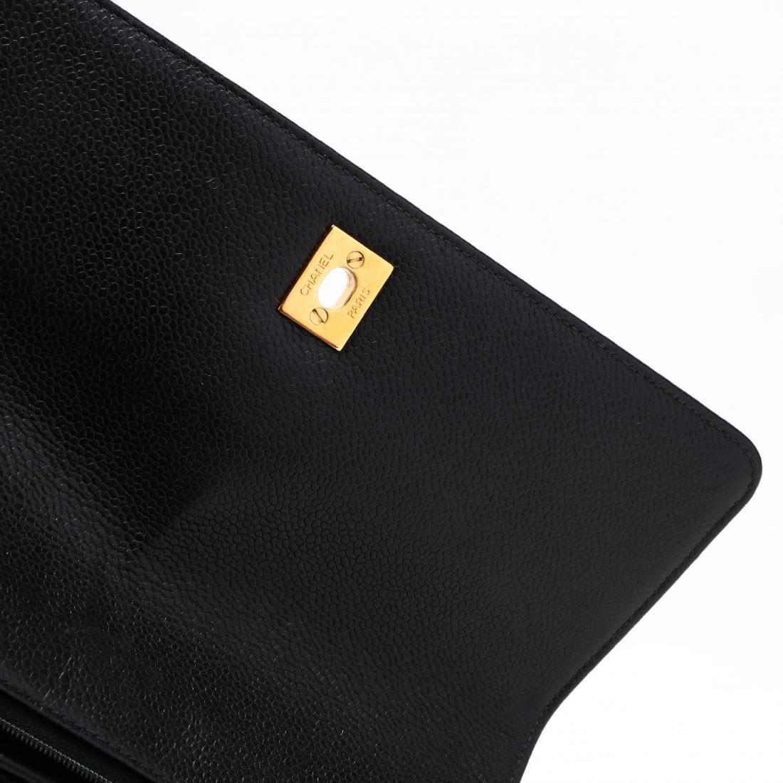 Caviar Leather Trapeze Flap Handbag, Chanel - 8