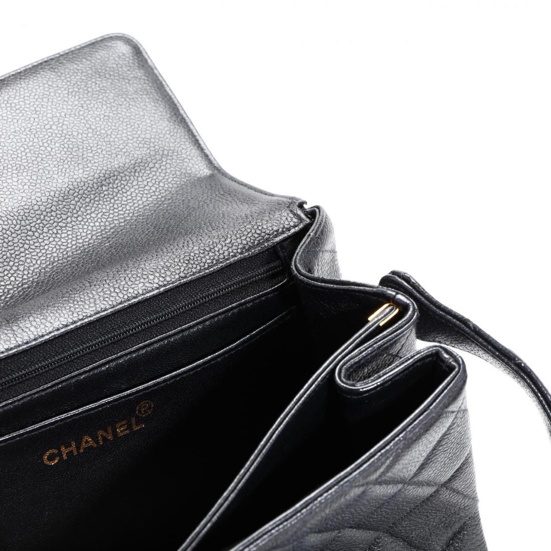 Caviar Leather Trapeze Flap Handbag, Chanel - 9