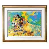 LeRoy Neiman (American, 1921-2012), Resting Lion