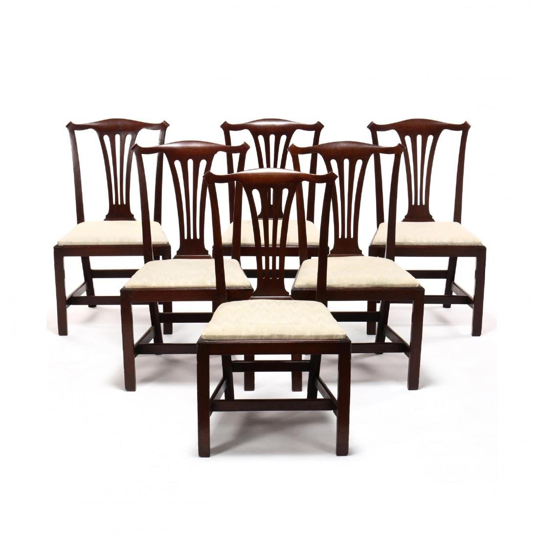 Set of Six American Chippendale Mahogany Side Chairs