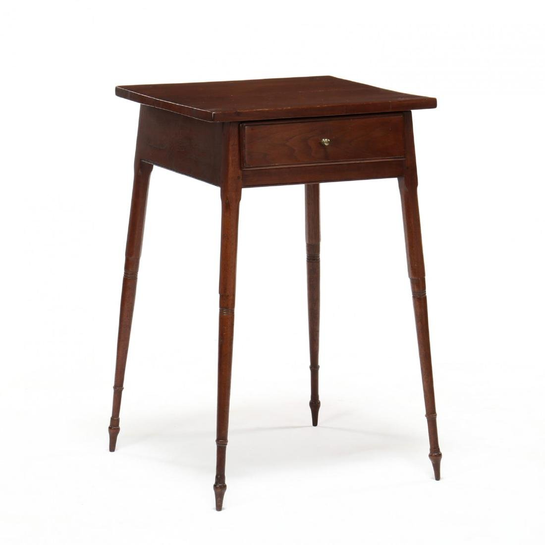 Southern Federal Splayed Leg Walnut One Drawer Stand