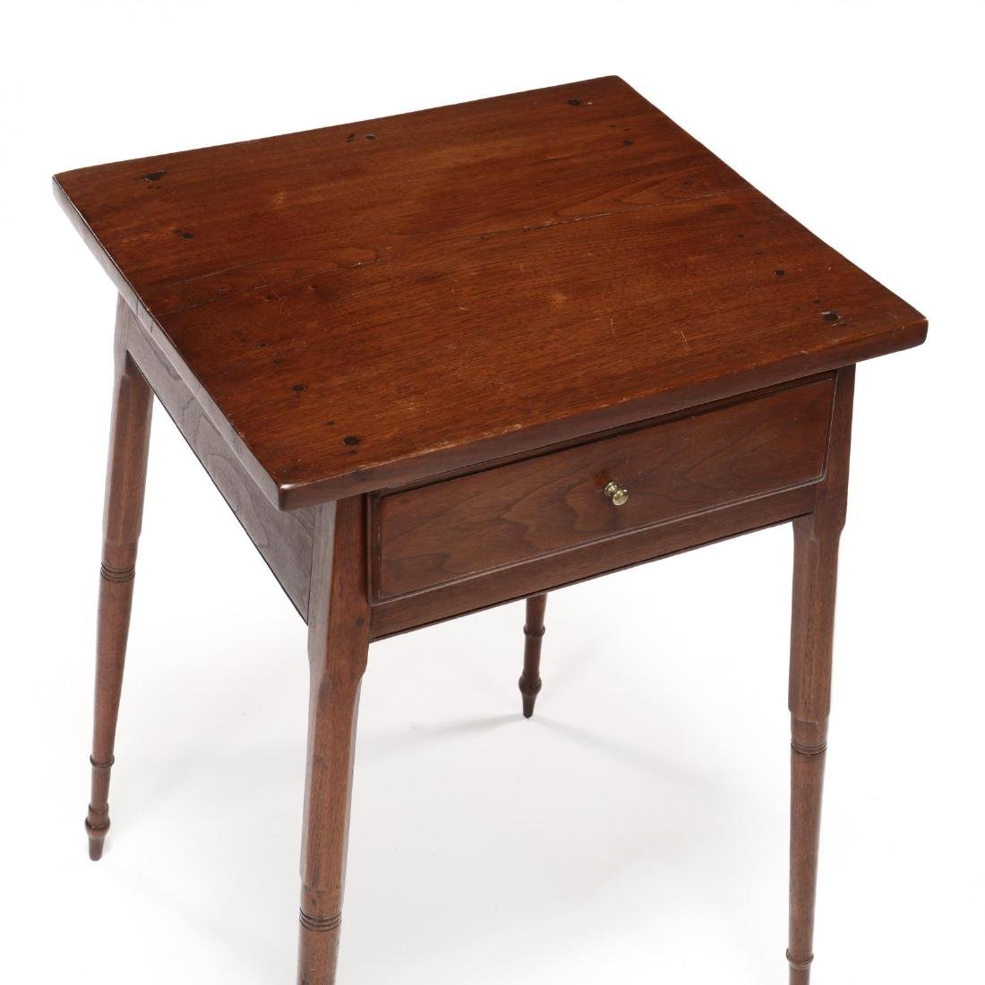 Southern Federal Splayed Leg Walnut One Drawer Stand - 2