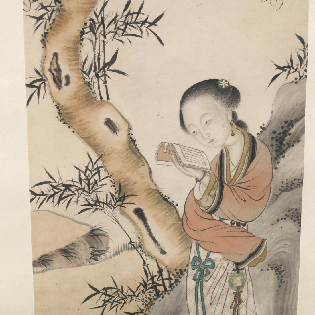 A Chinese Painting of a Beautiful Lady - 2