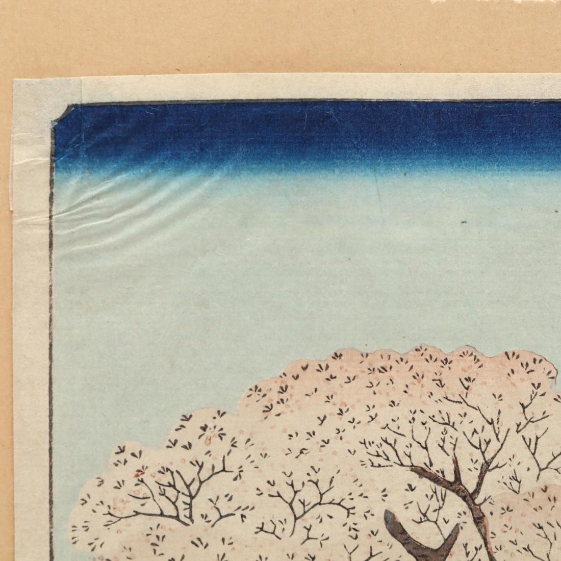 Two Woodblock Prints by Ando Hiroshige (Japanese, - 10