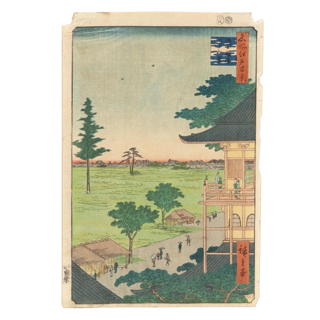 Two Woodblock Prints by Ando Hiroshige (Japanese, - 2