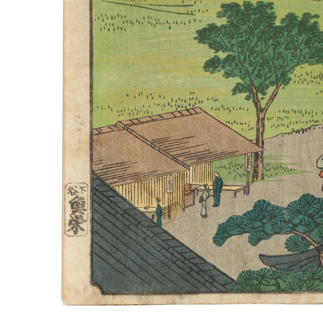 Two Woodblock Prints by Ando Hiroshige (Japanese, - 3