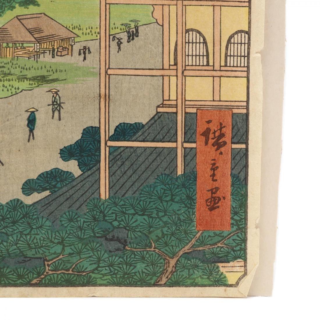 Two Woodblock Prints by Ando Hiroshige (Japanese, - 5