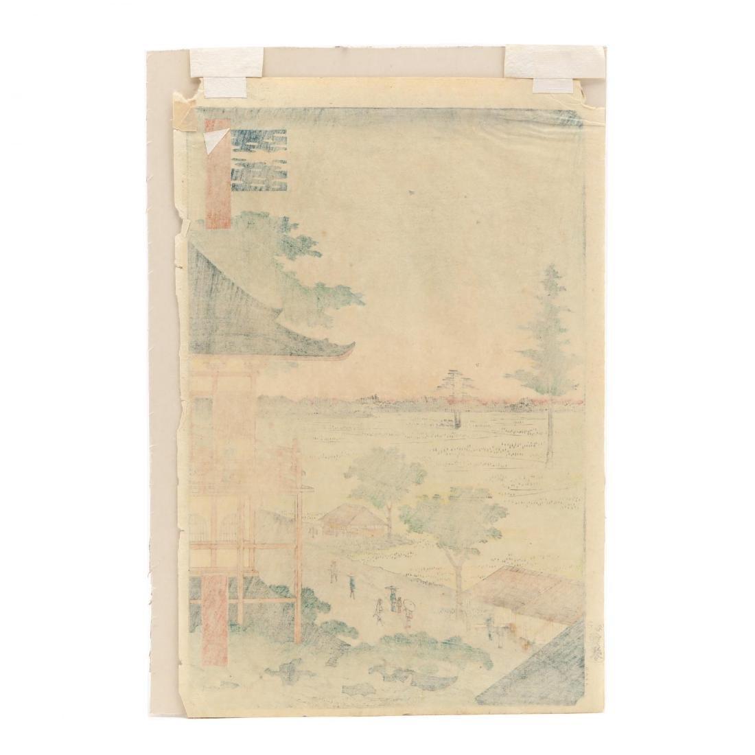 Two Woodblock Prints by Ando Hiroshige (Japanese, - 6