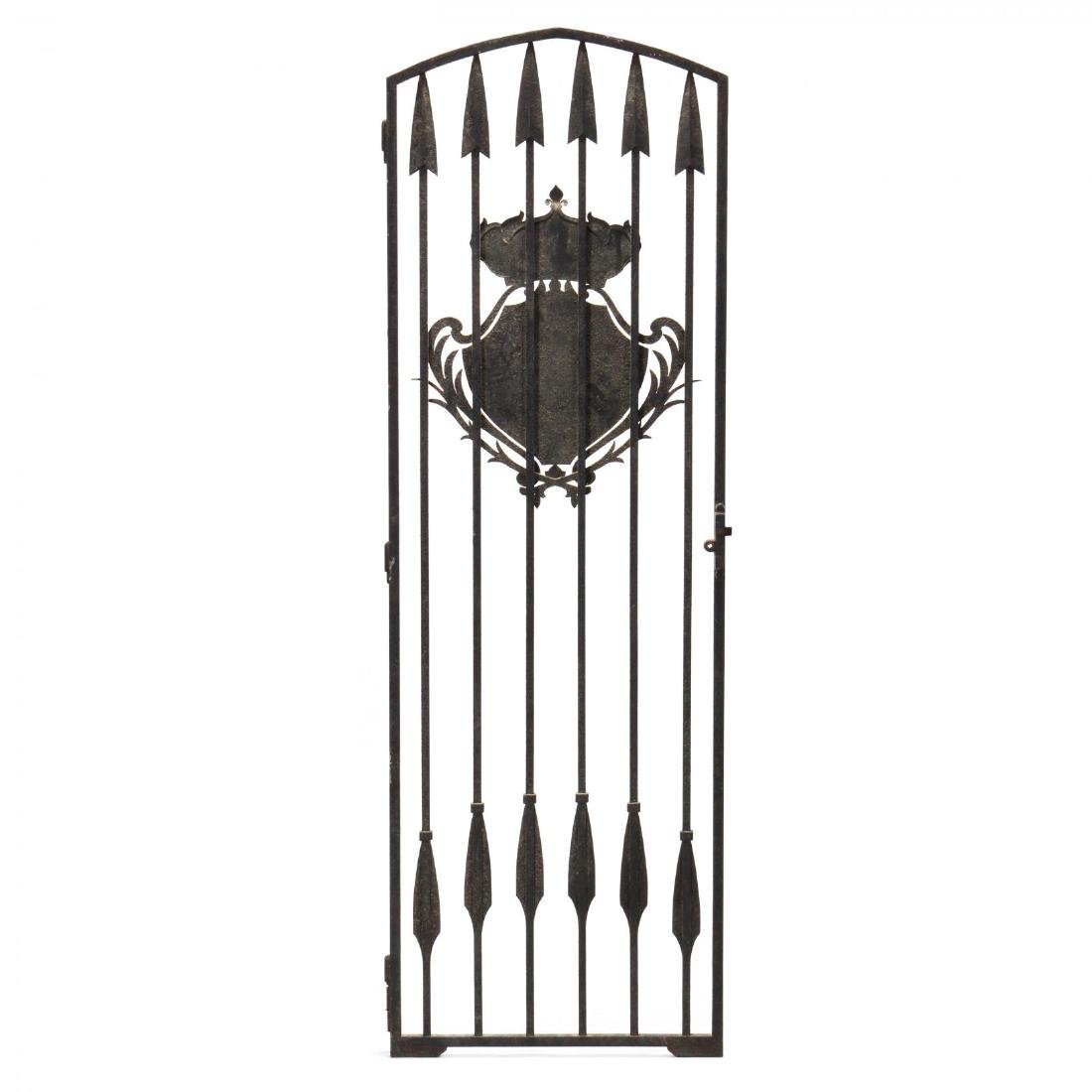 Continental Antique Iron Gate with Coat of Arms - 5