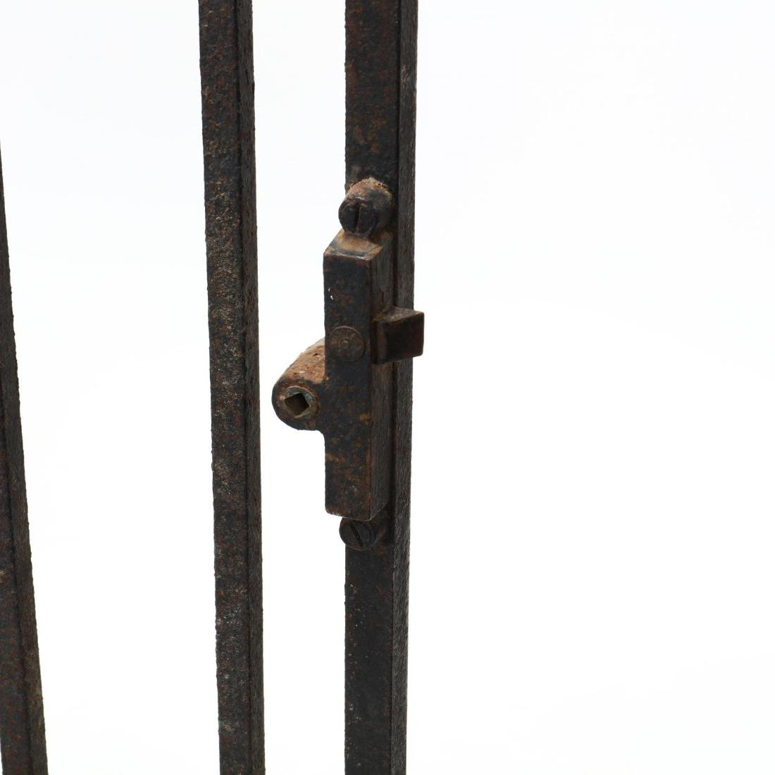 Continental Antique Iron Gate with Coat of Arms - 6