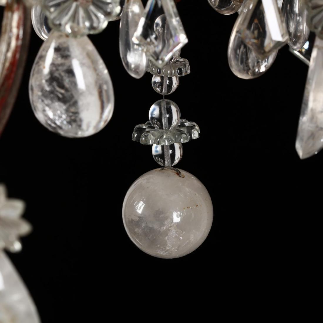 A Vintage Italian Rock Crystal Drop Prism Chandelier - 2
