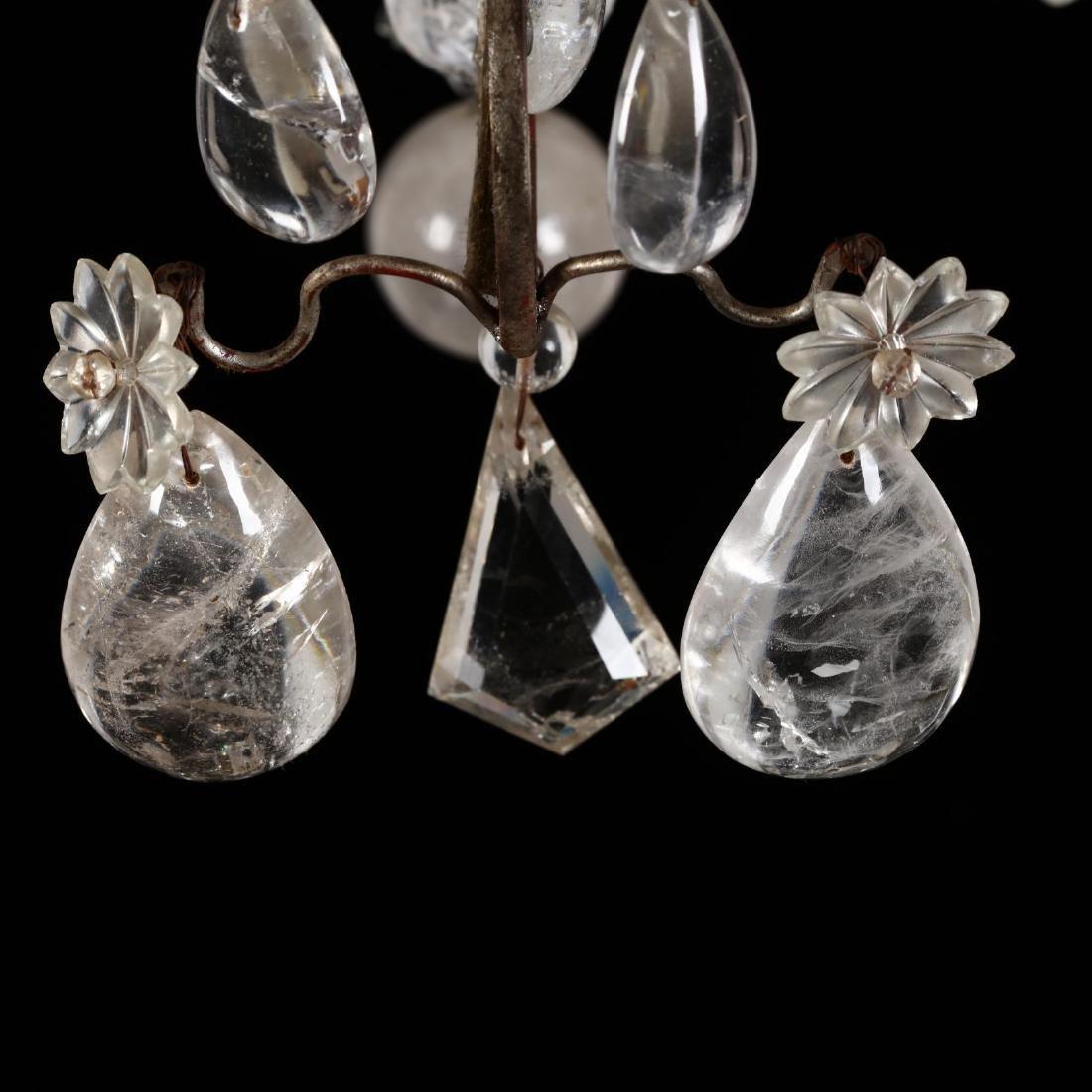 A Vintage Italian Rock Crystal Drop Prism Chandelier - 3