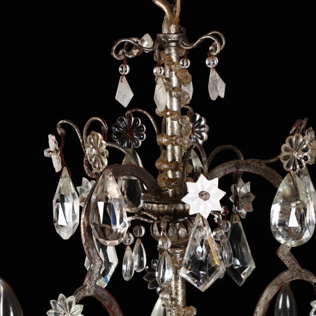 A Vintage Italian Rock Crystal Drop Prism Chandelier - 4