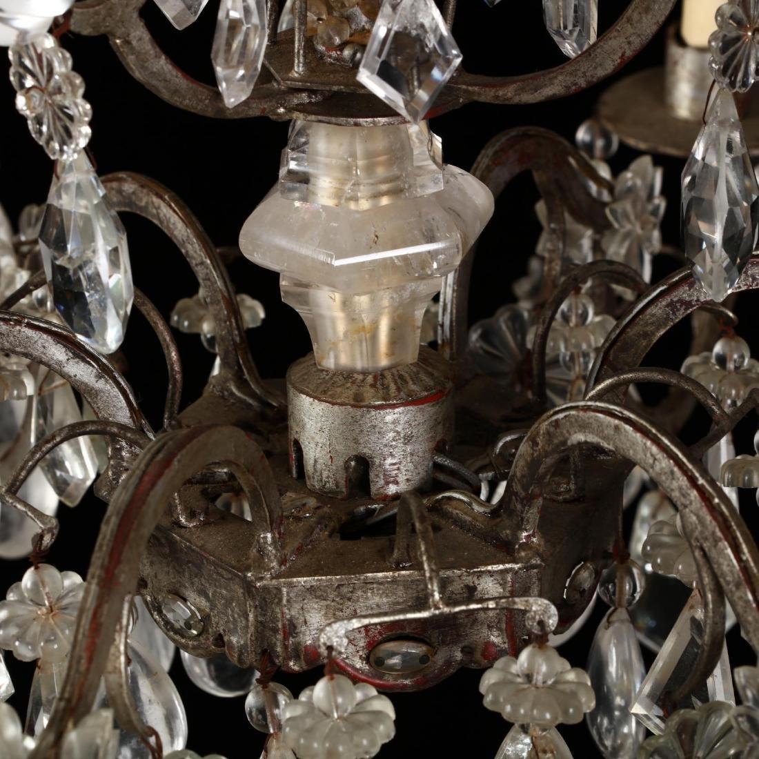 A Vintage Italian Rock Crystal Drop Prism Chandelier - 5