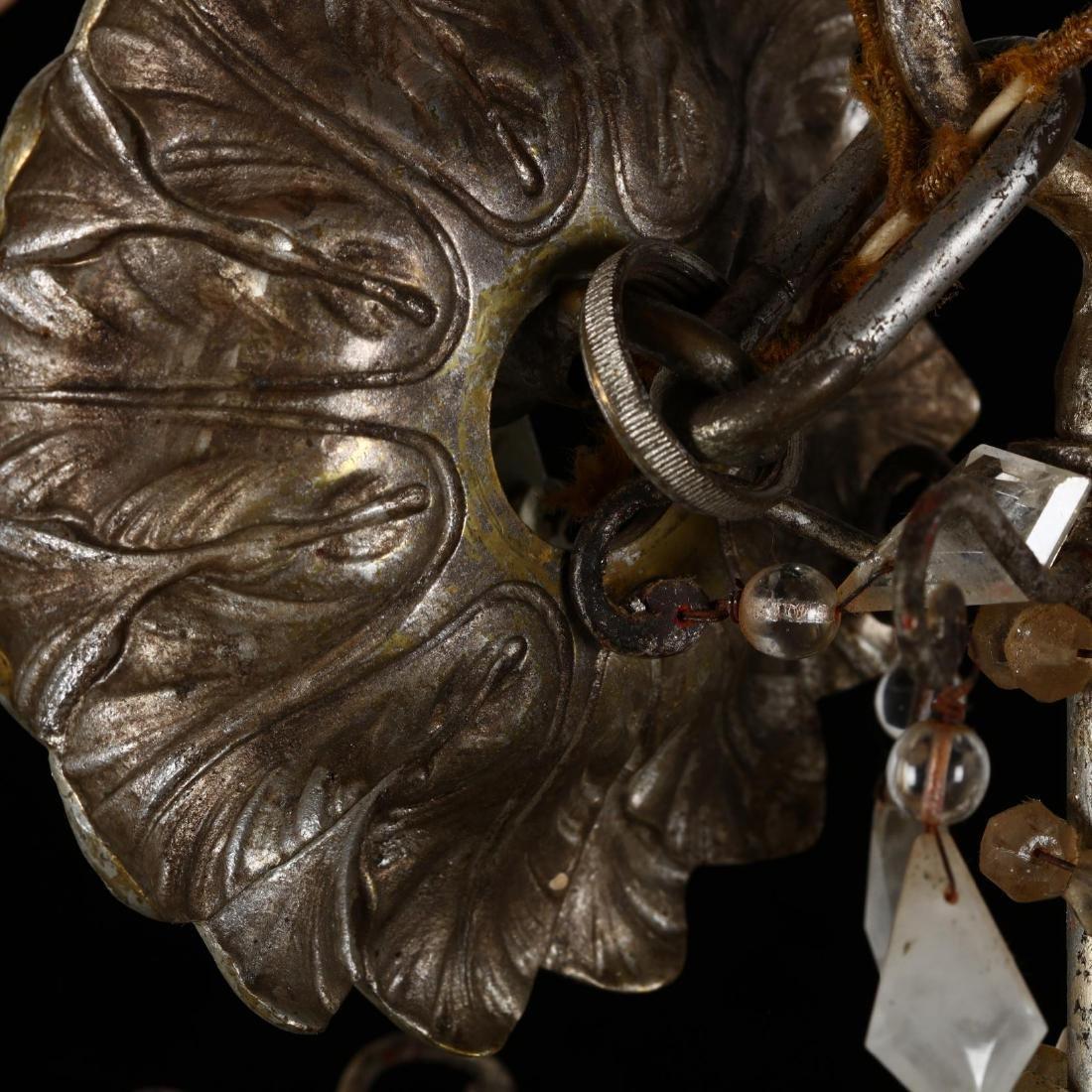 A Vintage Italian Rock Crystal Drop Prism Chandelier - 6