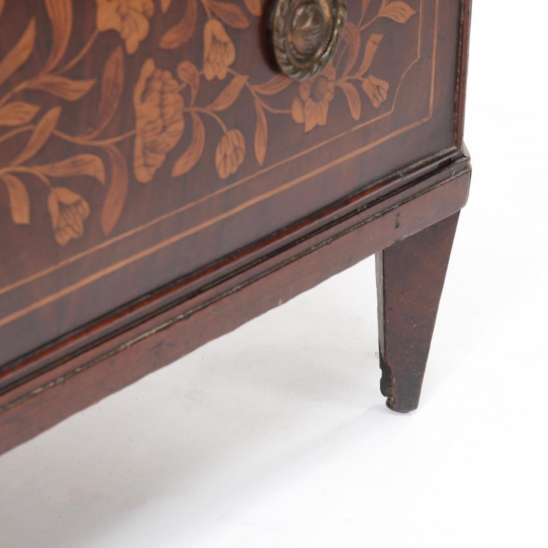 Dutch Marquetry Inlaid Semi-Tall Chest of Drawers - 8