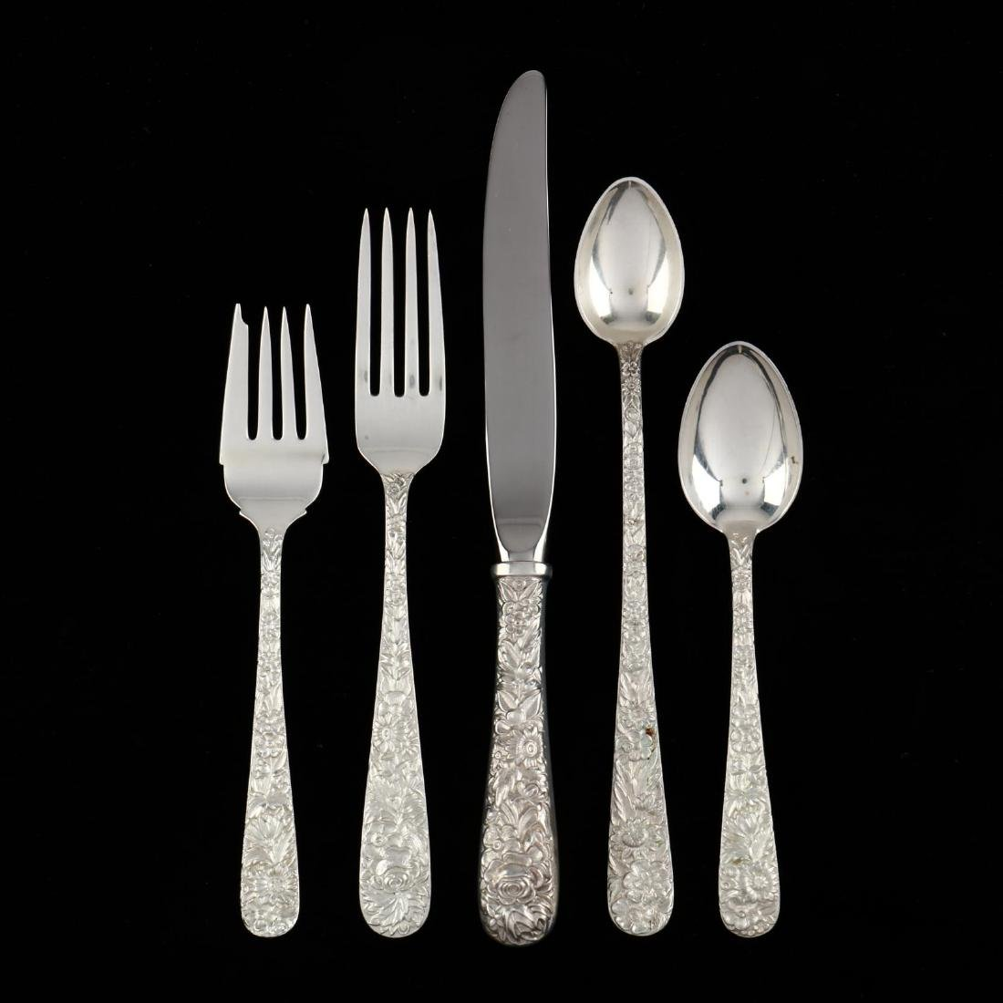 """S. Kirk & Son """"Repousse"""" Sterling Silver Flatware"""