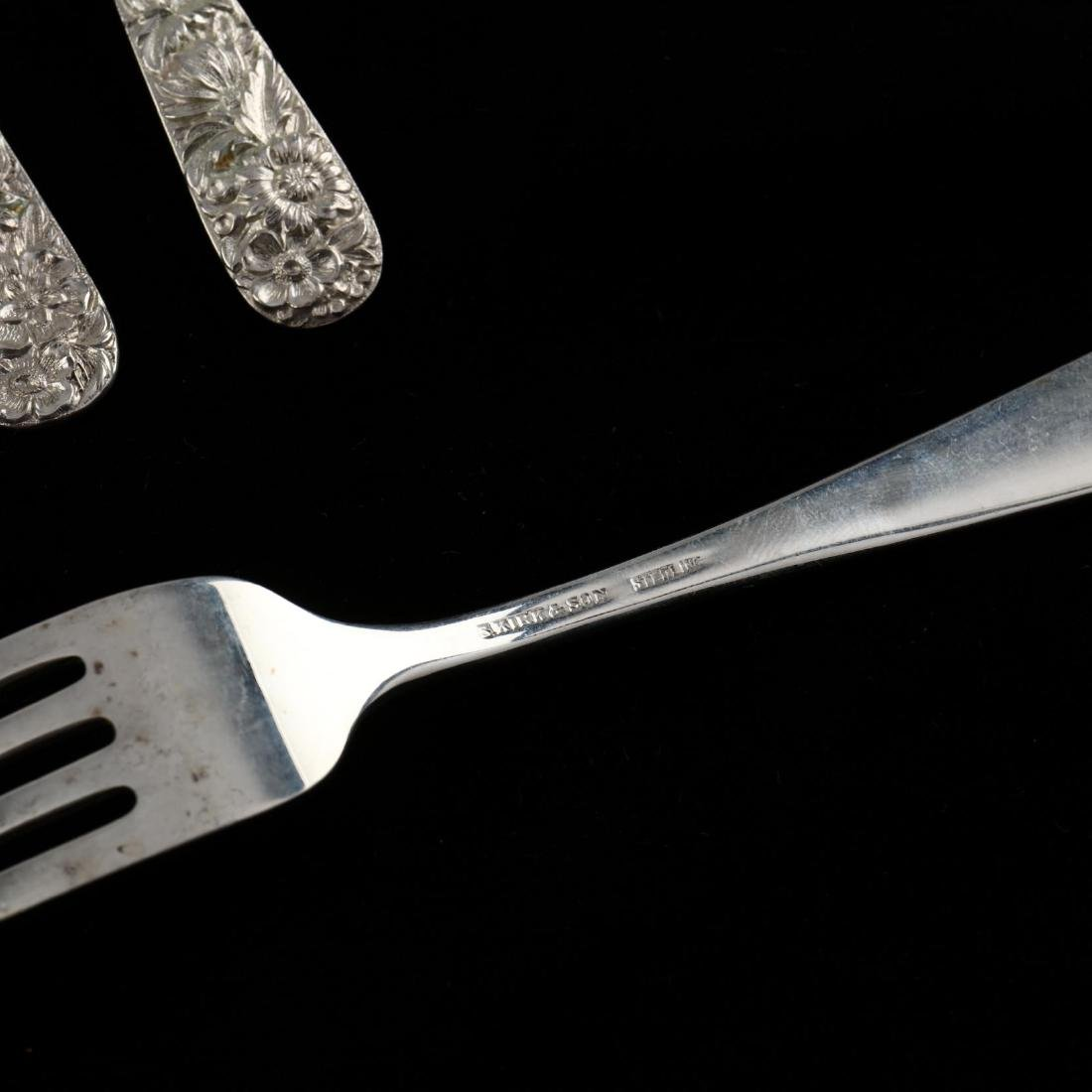 """S. Kirk & Son """"Repousse"""" Sterling Silver Flatware - 3"""