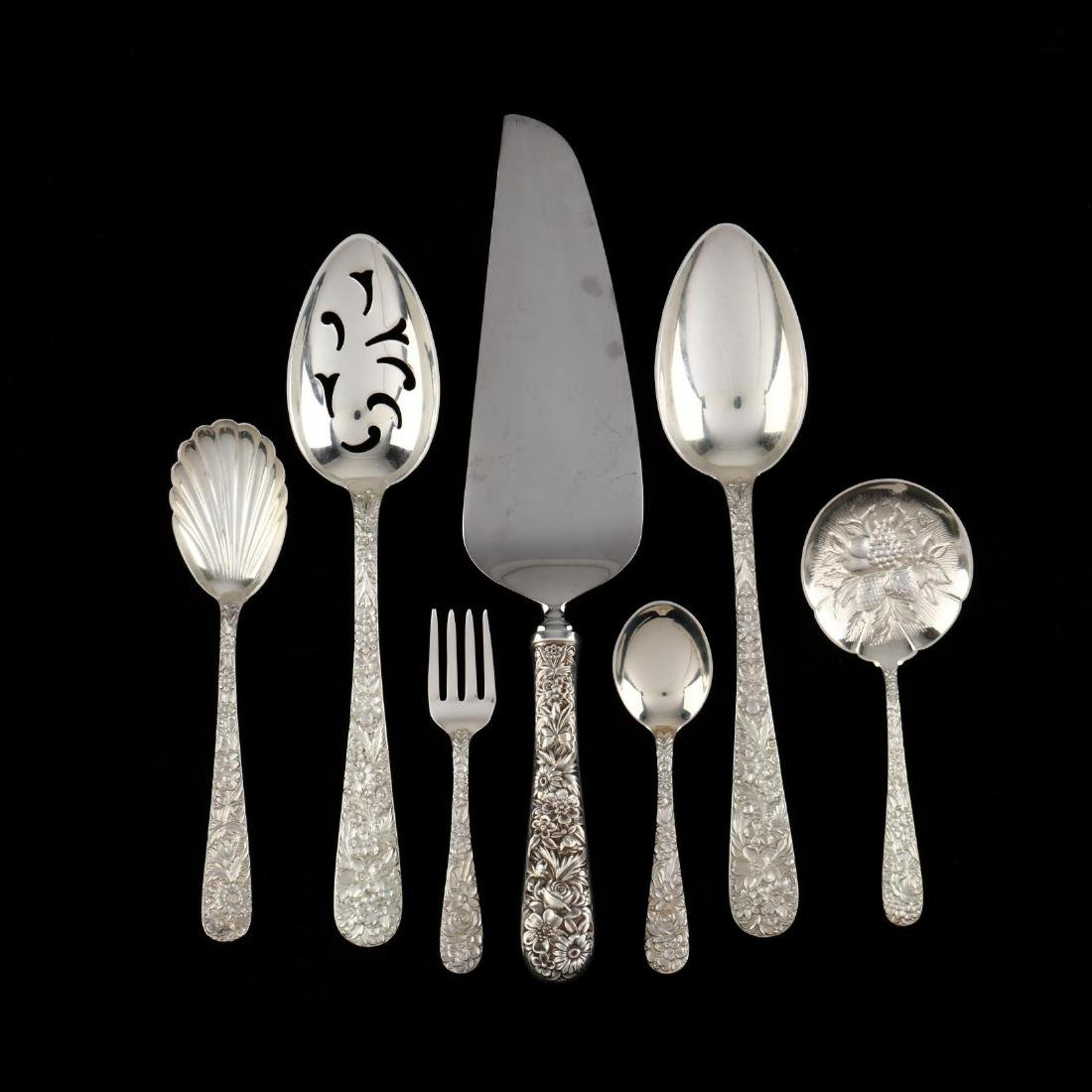 """S. Kirk & Son """"Repousse"""" Sterling Silver Flatware - 4"""