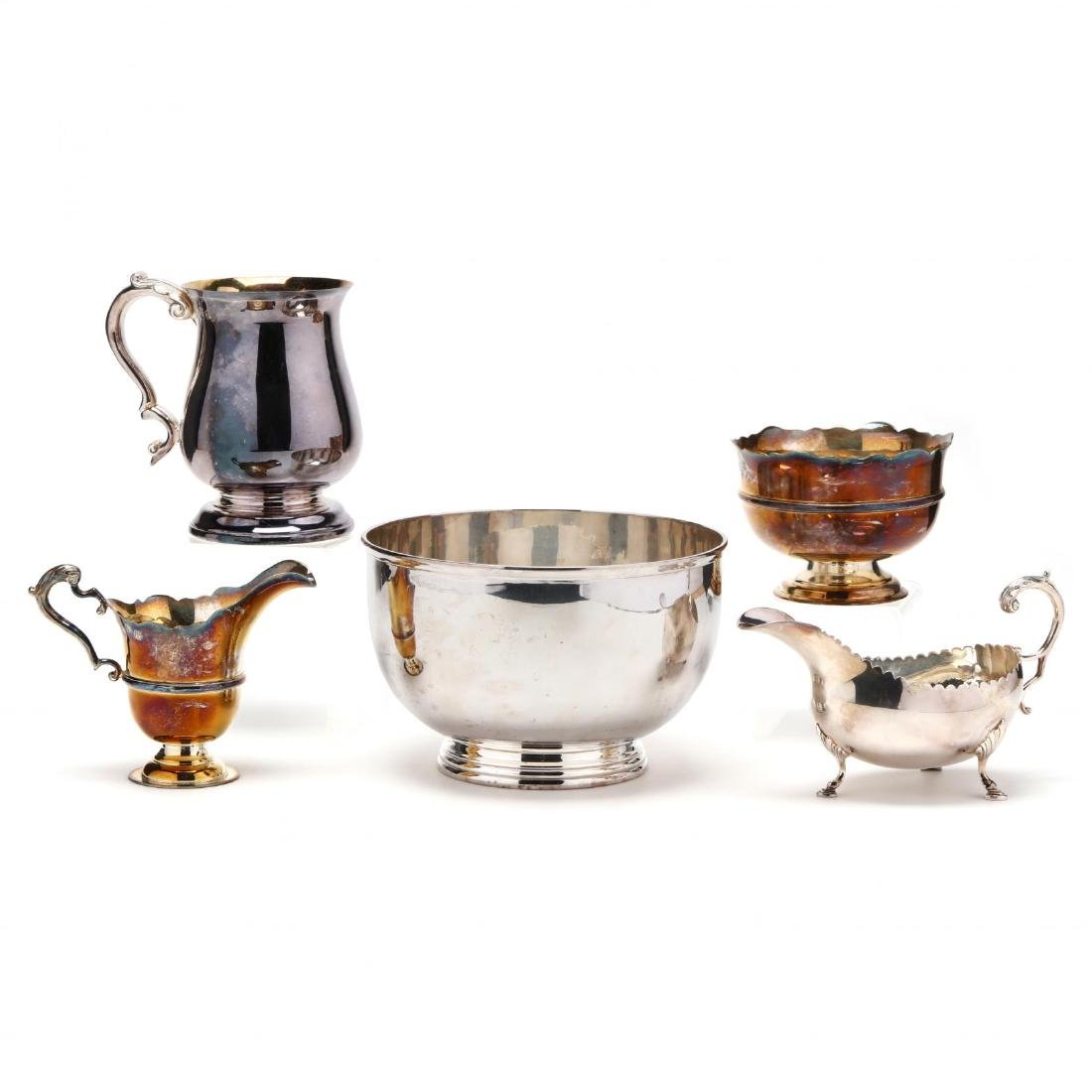 Five Elizabeth II Irish Silver Tablewares