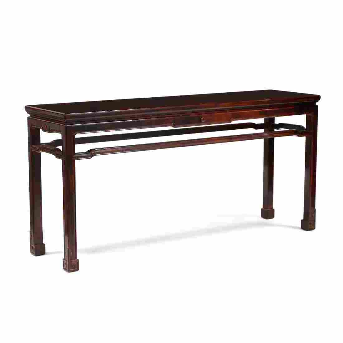 Chinese Carved Hardwood Console Table, Retailed Through