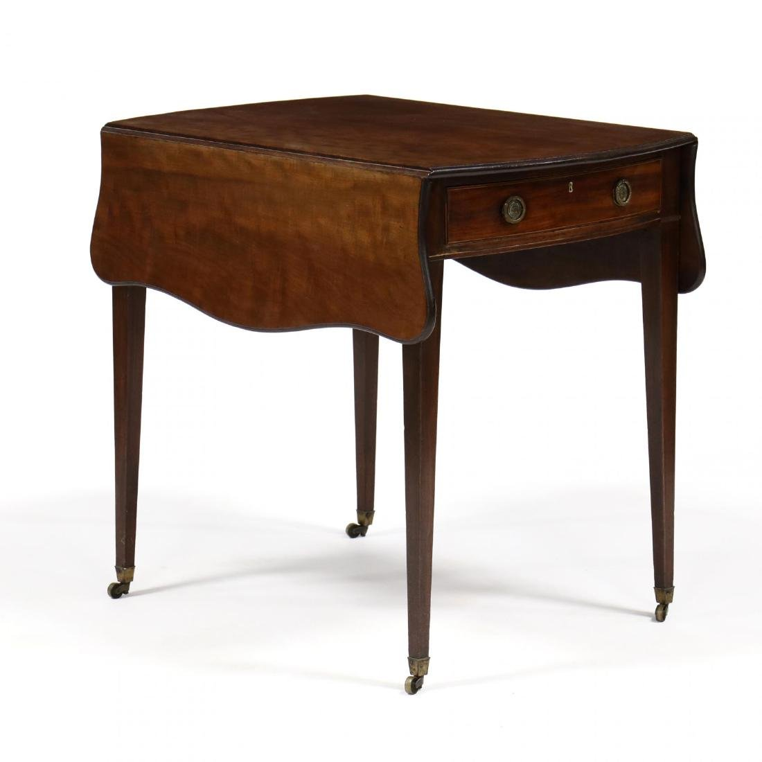 George III Mahogany Bow Front Pembroke Table
