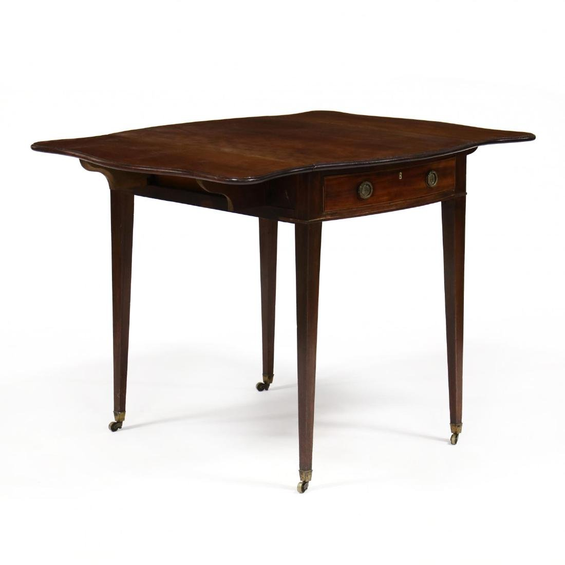 George III Mahogany Bow Front Pembroke Table - 5