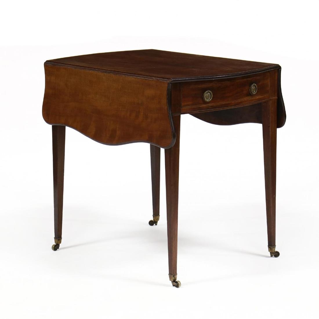 George III Mahogany Bow Front Pembroke Table - 7
