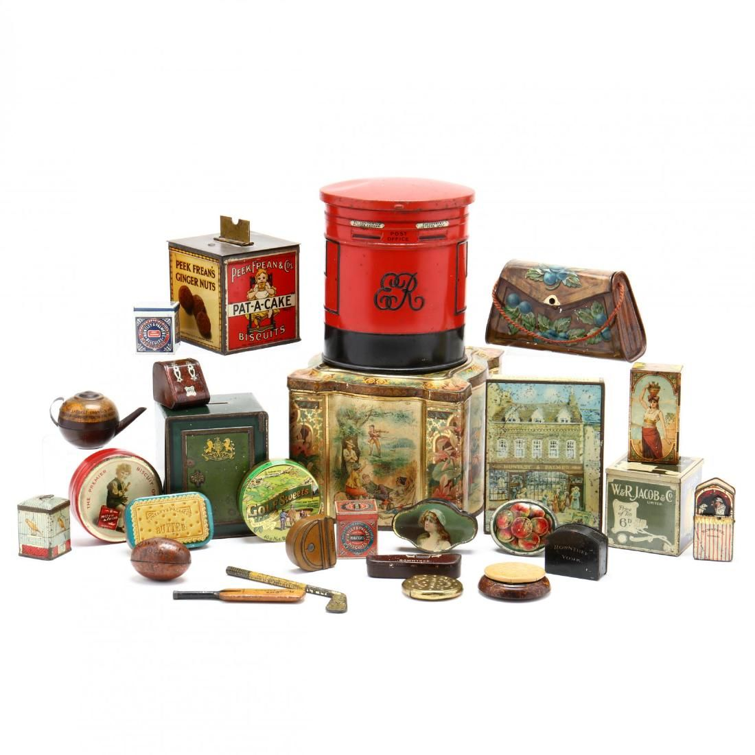 A Group of Tins and Advertising Miniatures