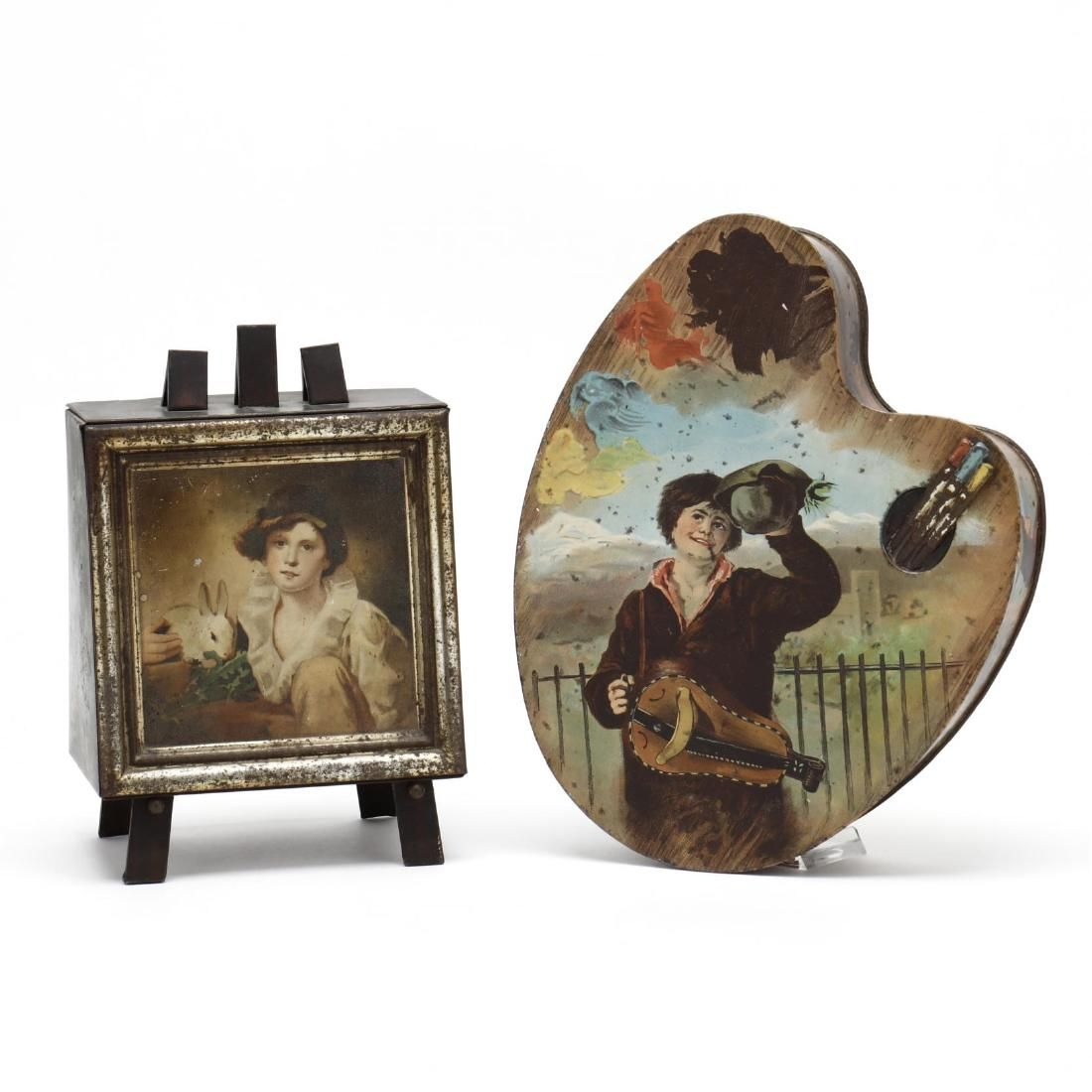Two Art Related Biscuit Tins
