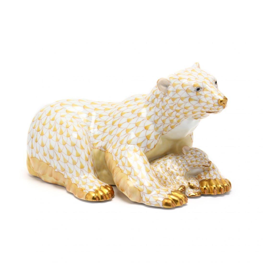 Herend Polar Bear with Cub