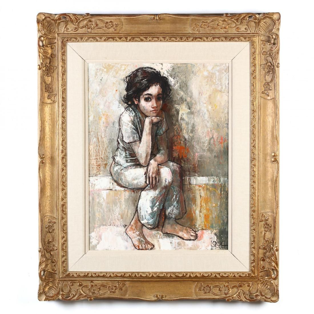 Bernard Locca (Italian, 1926-1997), A Young Boy in
