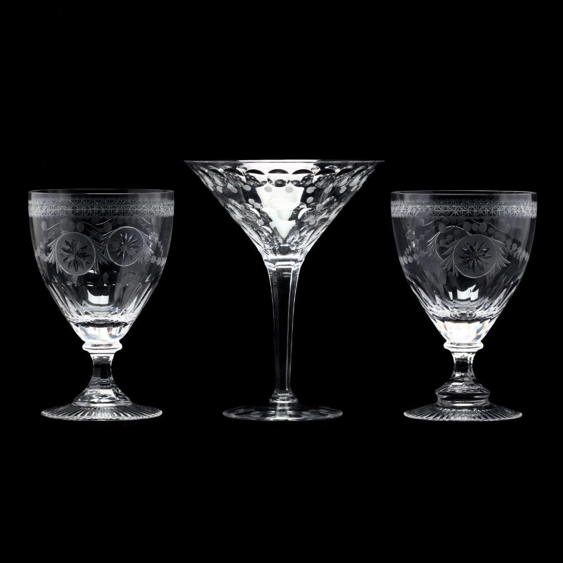 William Yeoward, Pair of Engraved Wine Goblets and