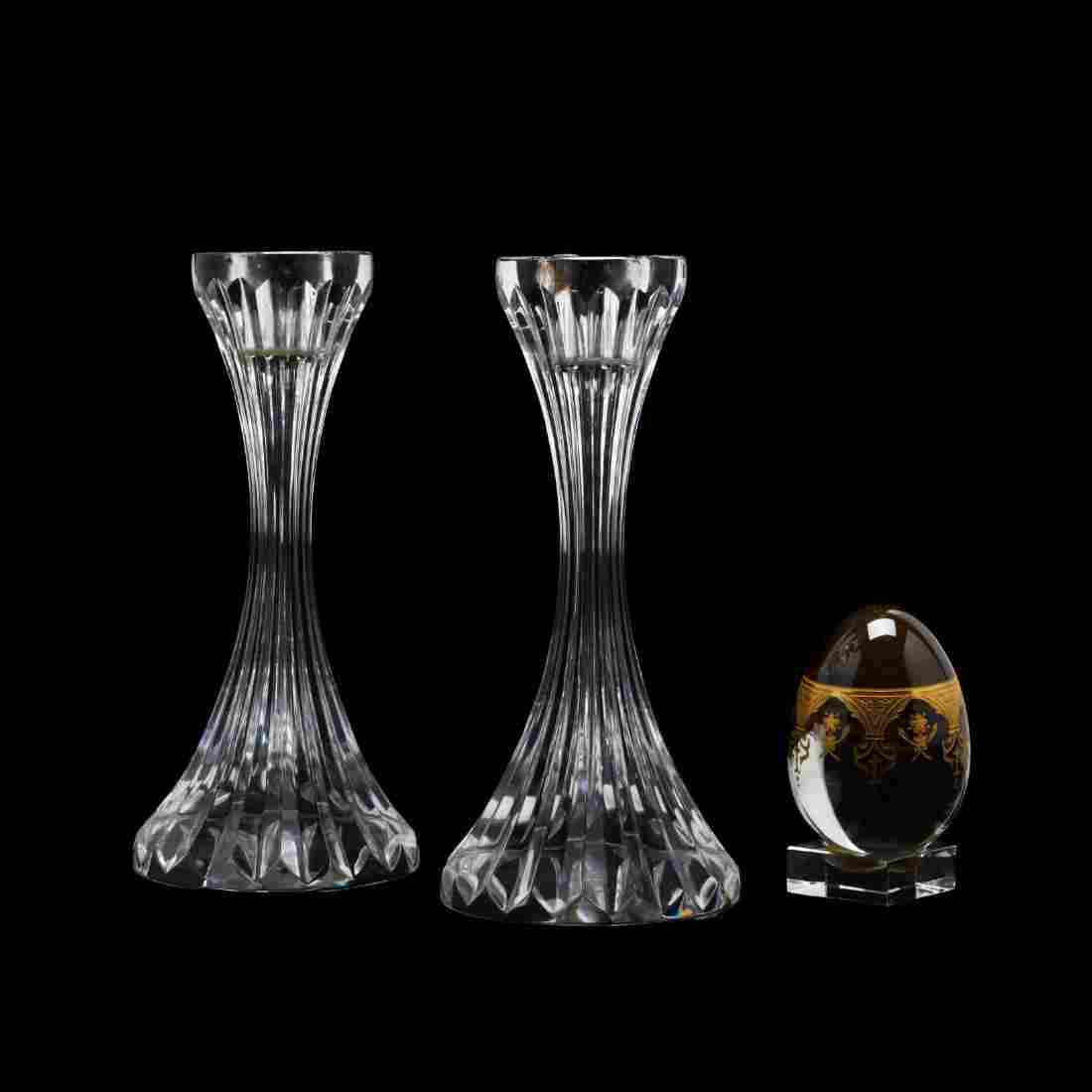 Three Pieces of Baccarat Crystal