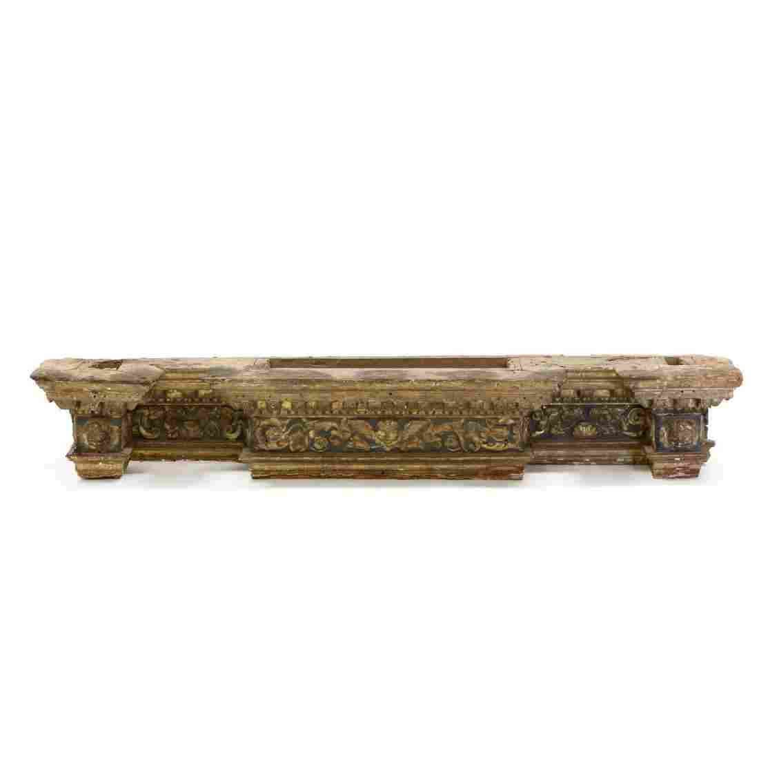 Italian Carved and Gilt Architectural Header