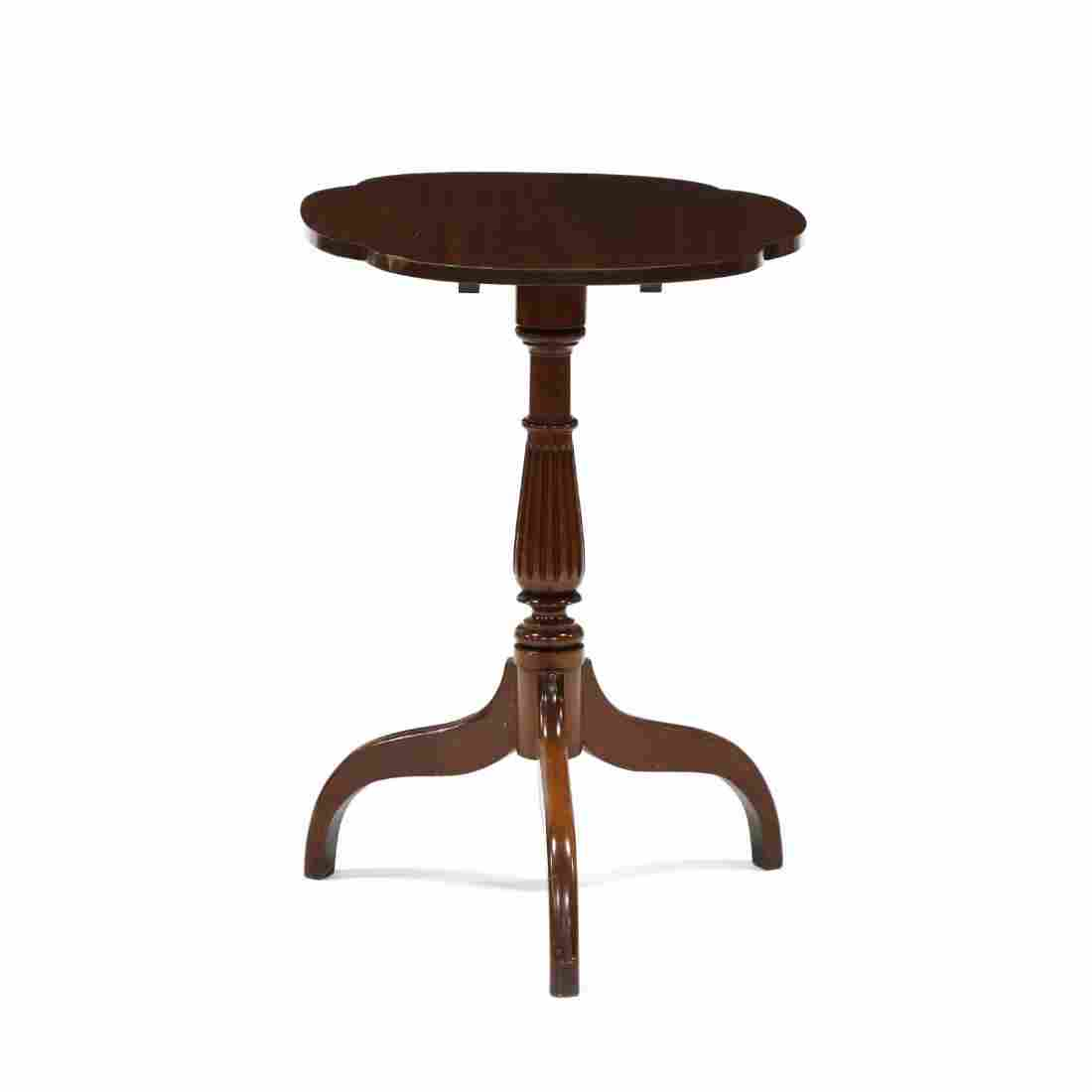 Federal Style Mahogany Tilt Top Candlestand