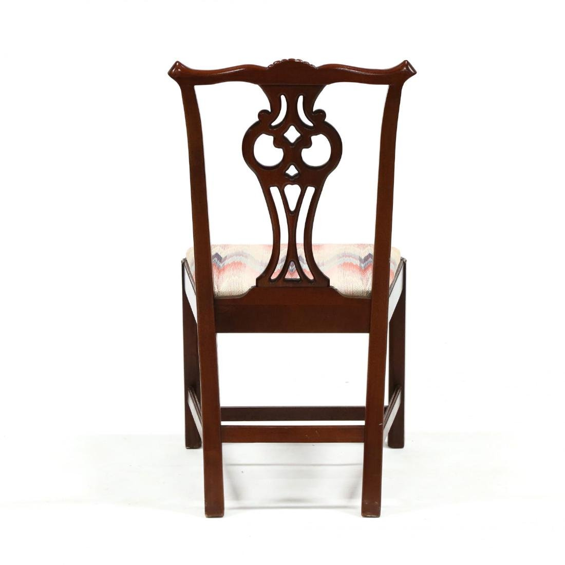 Set of Six Chippendale Style Mahogany Dining Chairs - 4